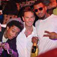 Wiz Khalifa, Patrick Tartary et The Game Gotha Club à Cannes. Le 13 juillet 2012.