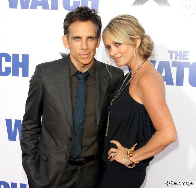 Ben Stiller et sa femme Christine Taylor à l'avant-première de Voisins du troisième type à Los Angeles, le 23 juillet 2013.