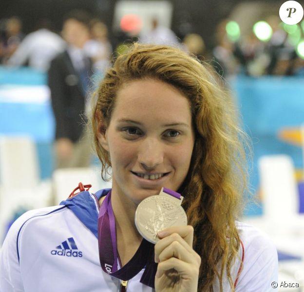 Camille Muffat est allée chercher la médaille d'argent lors du 200 m nage libre le 31 juillet 2012 au Jeux olympiques de Londres
