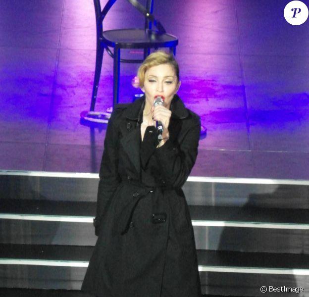 Madonna lors de son showcase à l'Olympia le 26 juillet 2012 à Paris