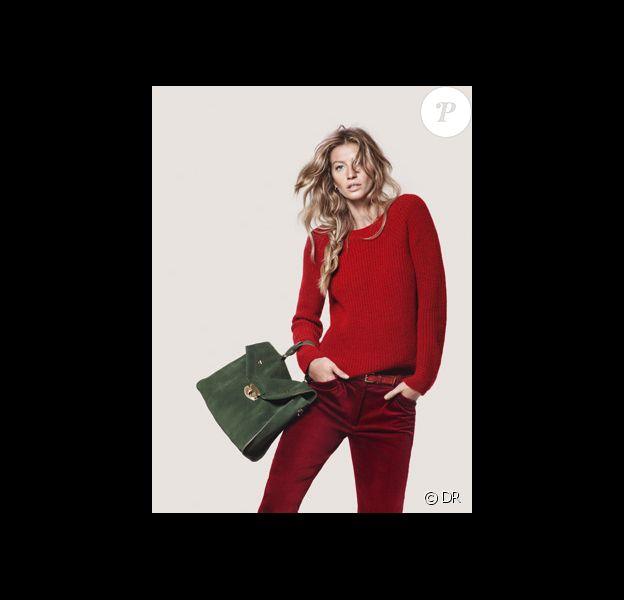 Gisele Bündchen pour Esprit. Campagne automne-hiver 2012-2013