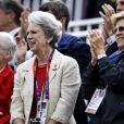 La princesse Benedikte de Danemark, entourée de ses soeurs la reine Margrethe II de Danemark et l'ancienne reine Anne-Marie de Grèce, soutenait le 7 août 2012 à Greenwich Park sa fille la princesse Nathalie, en lice sur Digby dans le concours de dressage individuel et par équipes.