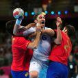 Bertrand Gille s'arrache... Les Experts du handball français sont venus à bout, mercredi 8 août 2012, de l'Espagne (23-22) en quart de finale du tournoi olympique, au terme d'un match crispant conclu sur une banderille de William Accambray à la toute dernière seconde.