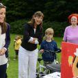 Ravie, la princesse Marie était en visite à Helsingor le 8 août 2012 lors des vacances de l'Association danoise de l'autisme, dont elle est la marraine.