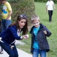 La princesse Marie de Danemark à Helsingor le 8 août 2012 pour les vacances d'été organisées par l'Association nationale de l'autisme, dont elle est la marraine.