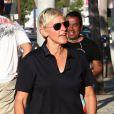 Ellen DeGeneres à la sortie du salon de coiffure Benjamin à West Hollywood le 9 août 2012