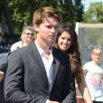 Patrick Schwarzenegger et sa soeur Katherine vont déjeuner au Jules Verne à Paris le 10 août 2012