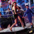 Posh Spice, Victoria Beckham, lookée et sexy pour le retour des Spice Girls sur la scène des JO le 12 août 2012