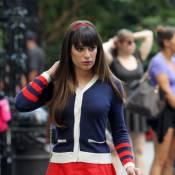 Lea Michele : En écolière sexy, elle risque de faire fondre... 50 Cent !
