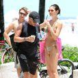Eros Ramazzotti et sa chérie Marica en vacances à Miami le 13 août 2012