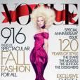 Couverture du magazine Vogue US pour le mois de septembre avec Lady GaGa