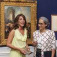 La princesse Marie de Danemark le 16 août 2012 lors de l'inauguration de l'exposition François Boucher - Fragments d'une vision du monde, au Musée Holtegaard de Copenhague.