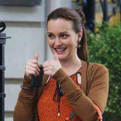 Leighton Meester et Ed Westwick : Bonne humeur sur le tournage de Gossip Girl