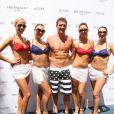 Ryan Lochte, médaillé d'or olympique à Londres le 18 août 2012 au Palazzo de Las Vegas lors d'une fête dans une piscine du célèbre resort de Las Vegas