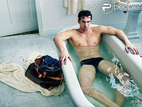 Michael Phelps pose pour une campagne Louis Vuitton