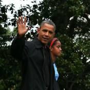 Barack Obama s'évade avec ses filles en pleine campagne
