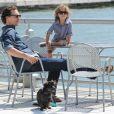 Matthew McConaughey en balade à New York avec son fils enfants Levi le 26 août 2012