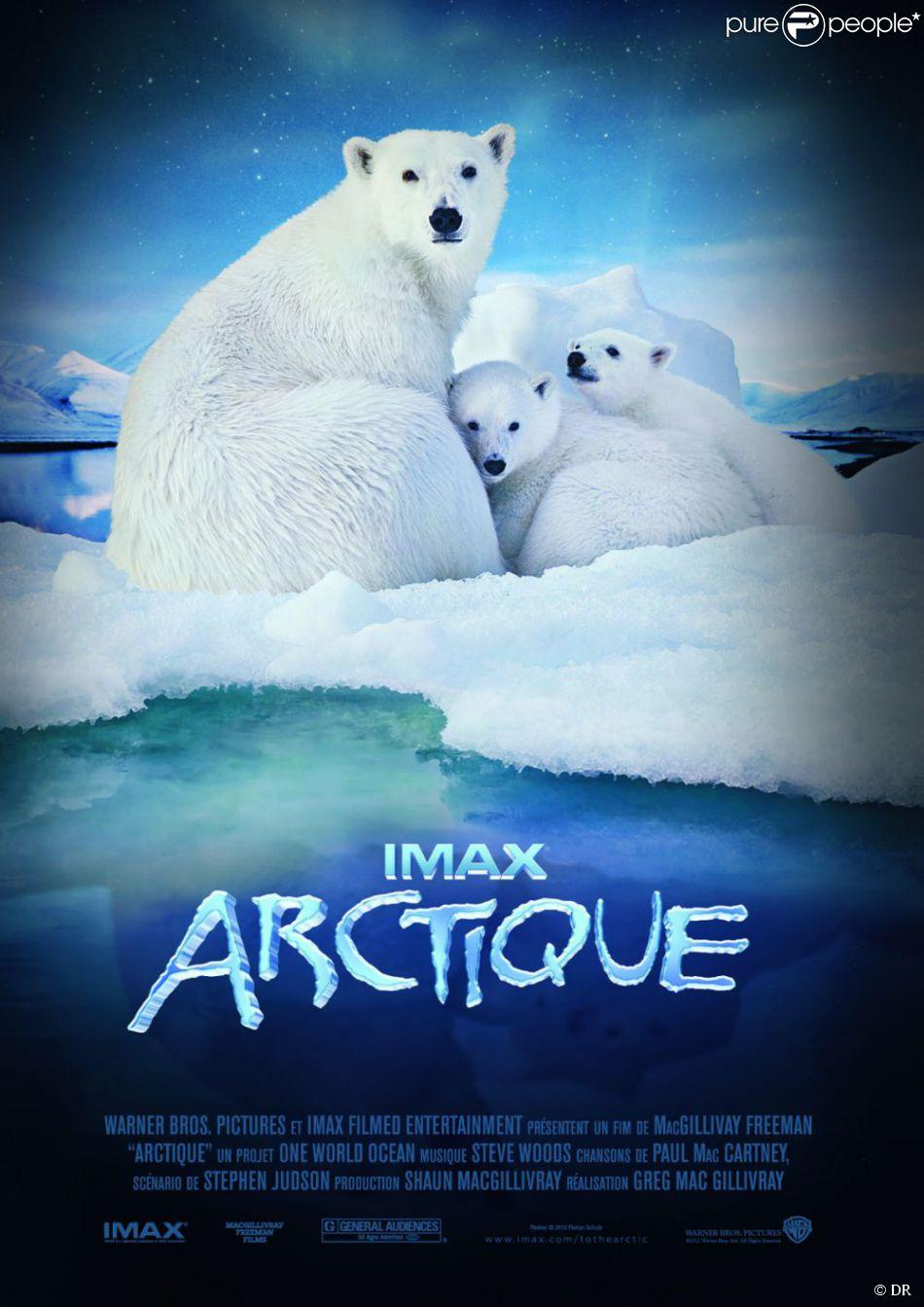Affiche du documentaire Arctique avec la voix de Sophie Marceau