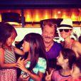 La famille Hallyday en vacances à St-Barthélemy en août 2012
