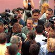 Robin Williams lors du Festival du film américain de Deauville 2000 pour la présentation de Jakob le menteur