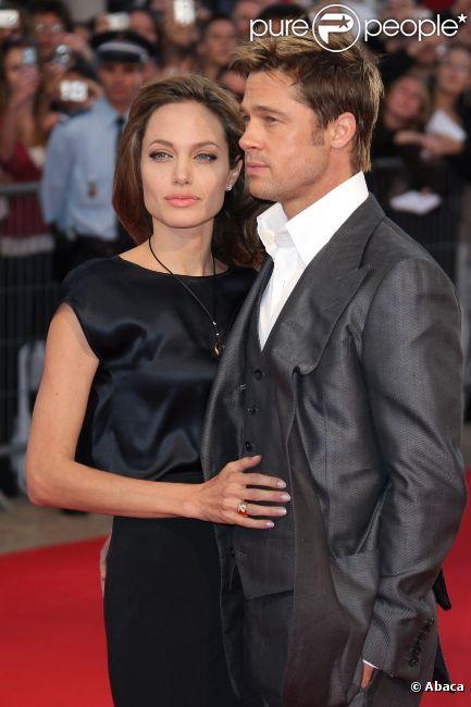 Angelina Jolie et Brad Pitt lors du Festival du film américain de Deauville 2007 pour le film L'Assassinat de Jesse James par le lâche Robert Ford