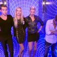 Sacha, Audrey, Nadège et Yoann dans le sas dans l'hebdo de Secret Story 6 le vendredi 31 août 2012 sur TF1