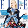 Gwen Stefani photographiée par Matt Irwin, porte un haut Peter Pilotto et une jupe Alexander McQueen en couverture du magazine Elle UK d'octobre 2012.