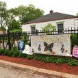 La maison d'enfance de Michael Jackson honorée à Gary aux Etats-Unis le 1er septembre 2012