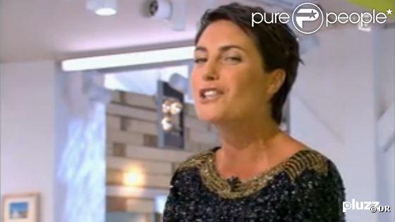 Alessandra Sublet présente la première de la nouvelle saison de l'émission de C à vous sur France 5, le 3 septembre 2012