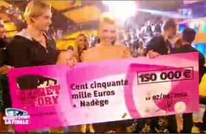 Secret Story 6 gagnant : Nadège remporte la finale et 165 140 euros !