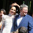 Mariage de Farida Khelfa et Henri Seydoux, à la mairie du 17arrondissement de Paris, le 1er septembre 2012.