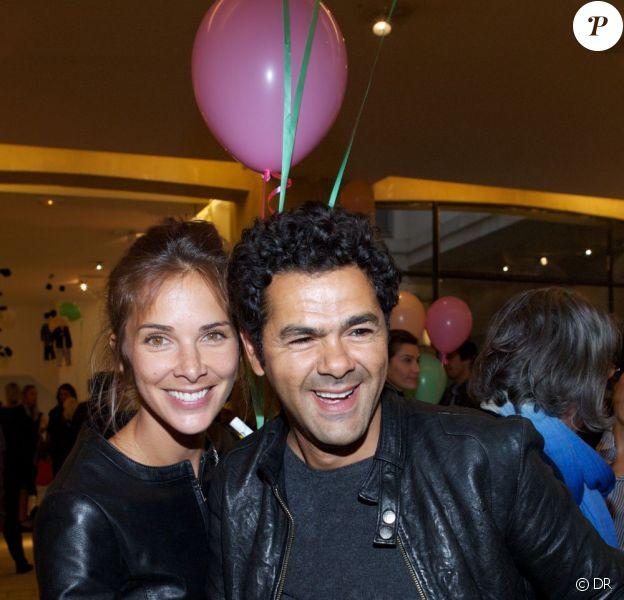 Jamel Debbouze et Mélissa Theuriau lors de la soirée Hi Panda x Bonpoint à Paris le 12 septembre 2012