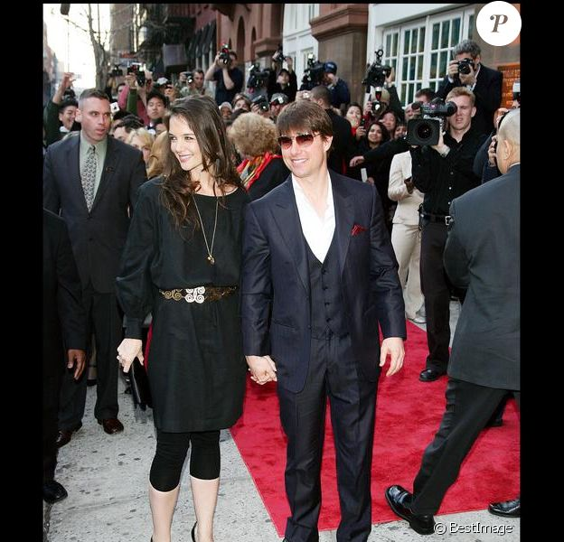 Tom Cruise et Katie Holmes en 2007 lors d'une soirée de la scientologie