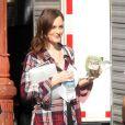 Leighton Meester sur le tournage de Gossip Girl le 17 septembre 2012 à New York