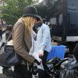 Blake Lively, jeune mariée, déjà de retour sur le plateau de Gossip Girl. Le 17 septembre 2012 à New York