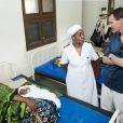Le prince Joachim de Danemark en visite à Zanzibar le 5 septembre 2012 dans le cadre de son soutien à CARE Danemark.