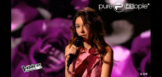 Louise chante La Vie en rose dans The Voice