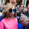 Lady Gaga à la sortie du Park Hyatt, place Vendôme, à Paris, le 22 septembre 2012.