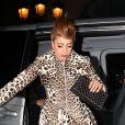 Lady Gaga sortant de la boutique Azzedine Alaïa dans le Marais, à Paris, le 21 septembre 2012.