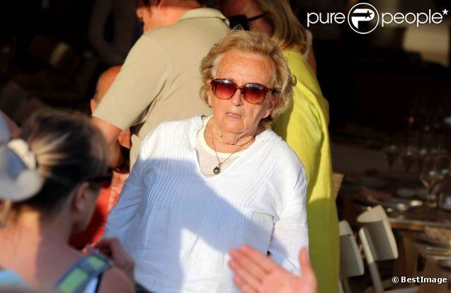 Bernadette Chirac le 10 août 2012 à Saint-Tropez