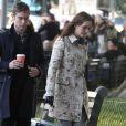 Leighton Meester et Chace Crawford sur le tournage de Gossip Girl, le 24 septembre à New York