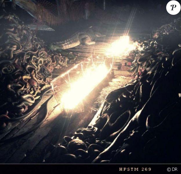 Le directeur de la photo Matthew Libatique a twitté un premier cliché de l'arche de Noé dans le film Noah de Darren Aronofsky. Septembre 2012.