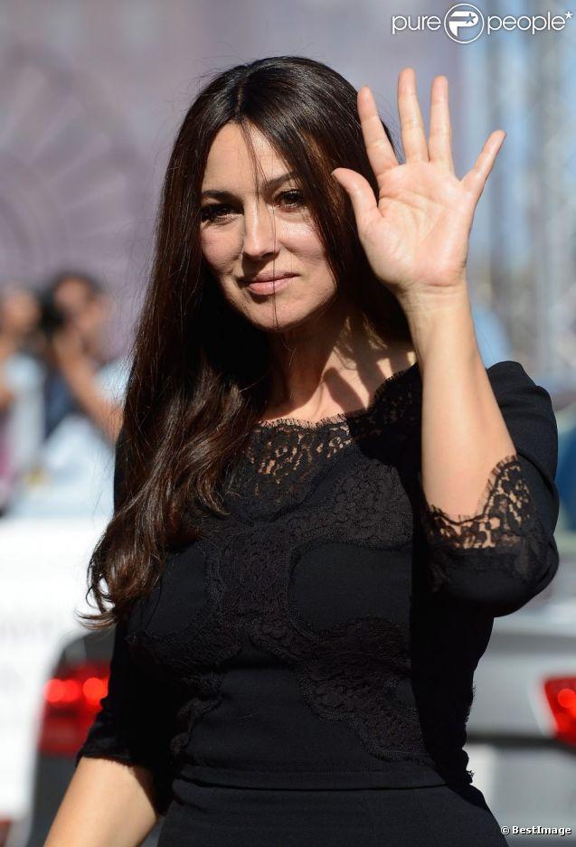 Monica Bellucci arrive à l'hôtel Maria Cristina à Saint-Sébastien le 27 septembre 2012