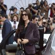 Monica Bellucci arrive au festival de Saint-Sébastien le 25 septembre 2012