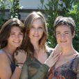 Tonya Kinzinger avec Adeline Blondieau et Bénédicte Delmas en 2003 à St Tropez pour la promotion de Sous Le Soleil