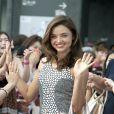 Miranda Kerr, ravissante et appréciée par les jeunes Japonaises, se rend au Tokyo SkyTree Town pour Samantha Thavasa, dont elle est l'égérie. Tokyo, le 9 septembre 2012.