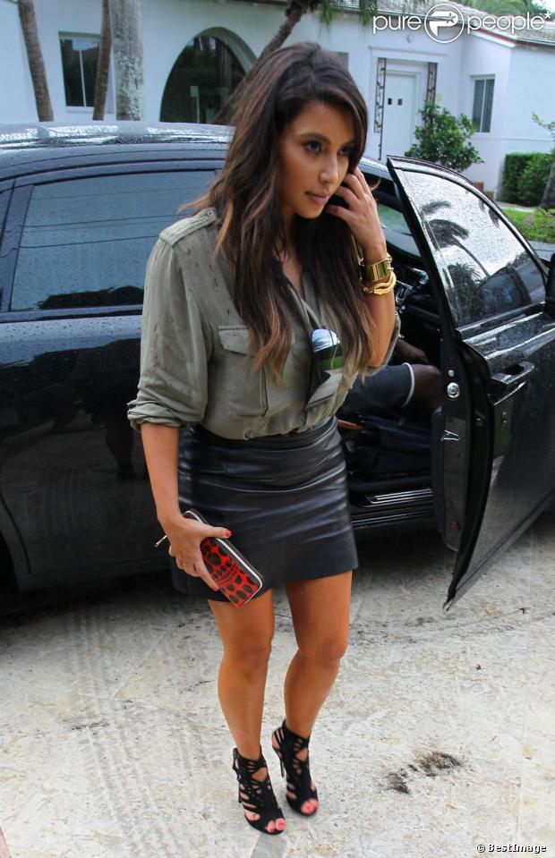 Kim Kardashian à Miami. Le 8 octobre 2012.