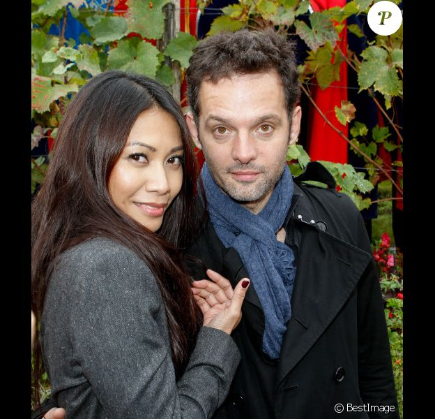 Anggun et Cyril Montana, à Paris, le samedi 13 octobre 2012 à l'occasion des vendanges.