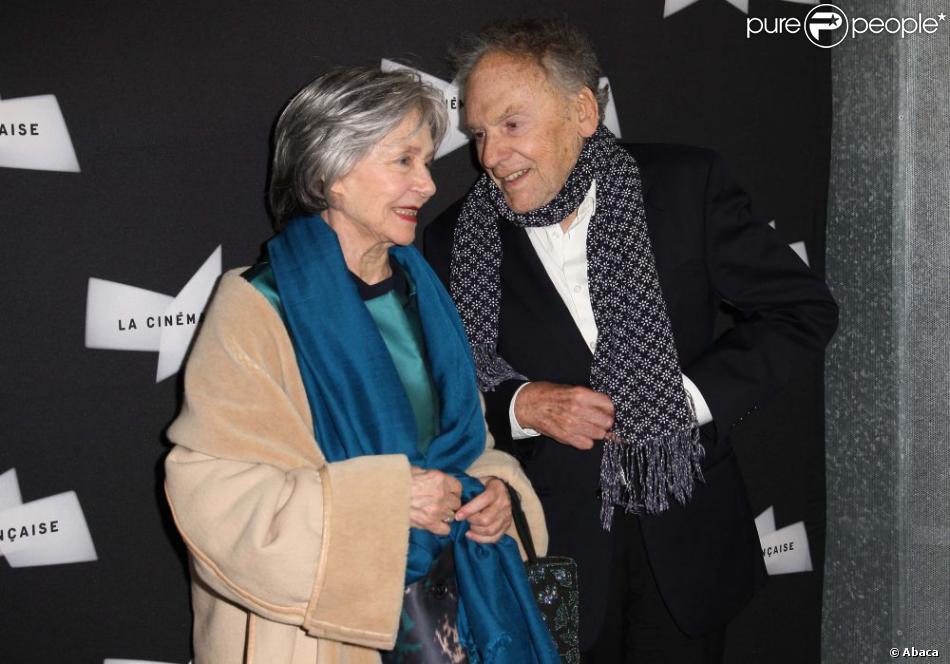 Emmanuelle Riva et Jean-Louis Trintignant lors de la projection du film Amour à la Cinémathèque française à Paris le 15 octobre 2012