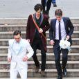 Ed Westwick, Penn Badgley, Chace Crawford sur le tournage de Gossip Girl à New York, le 15 octobre 2012